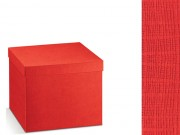 Scatola cartone seta rossa mm. 300x300x120