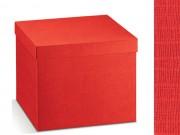 Scatola cartone seta rosso mm. 400x340x340