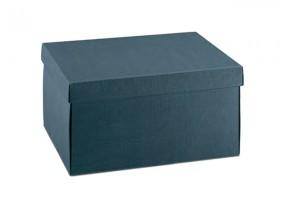Scatola cartone juta blu mm. 300x300x120
