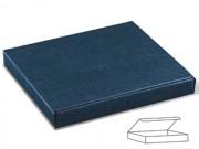 Scatola cartone juta blu cornice mm. 260x230x30 pz.10