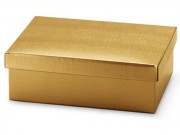 Scatola cartone seta oro mm. 400x285x240