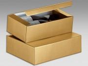 Scatola di cartone oro per 2 bottiglie  mm. 340x185x95 pz.10