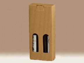 Scatola per 2 bottiglie petit onda mm. 90x45x215 pz. 50