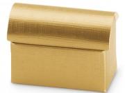Scatola cartone a  cofanetto oro mm 70x45x52 pz.10