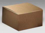 Scatola cartone pieghevole avana mm 100x100x60 pz.10