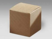 Scatola cartone  pieghevole avana mm. 100x100x100 pz. 10