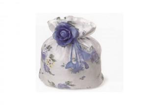 Sacchetto lilla con rosa blu cm 9x16 sconto 50%
