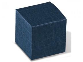 Scatola cartone pieghevole juta blu mm 100x100x100 pz.10