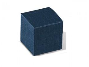 Scatola cartone juta blu mm. 140x140x80 pz. 10 sconto 30%