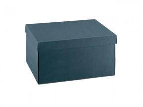 Scatola cartone juta blu mm. 300x200x100