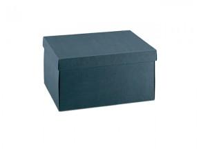Scatola cartone juta blu mm. 250x250x100