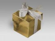 Scatola cartone oro lari mm. 50x50x50 pz.10