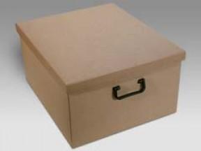 Scatola cartone bauletto avana con manici plast mm 400x460x230 scatole bauletto per armadio 48 for Scatole ikea per armadi