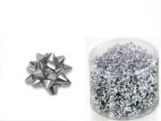 Stelline coccardine micro metal argento adesive d. cm.3 pz.100