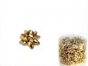 Stelline coccardine micro metal oro adesive d. cm.3 pz.100