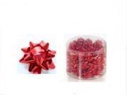 Stelline coccardine micro metal rosso adesive d. cm.3 pz.100