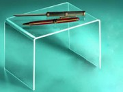 Espositore impilabile in acrilico trasparente cm. 14x20x14