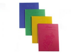 Porta menu 4 buste giallo ocra cm. 15x21