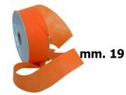 Nastro tessuto tnt largo  mm.19 metri 90 arancio