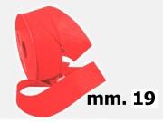 Nastro tessuto tnt largo  mm.19 metri 90 rosso