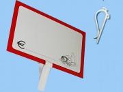 Mollette in plastica per segnaprezzi altezza cm. 7 pz. 10