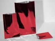 Buste piatte metallizzate rosse cm. 15x25 pz. 50