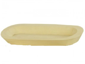 Vassoio ovale mm.410x240 h.30 in legno di balsa