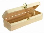 Cassetta portabottiglie legno chiaro 1 posto mm 360x110x h.100