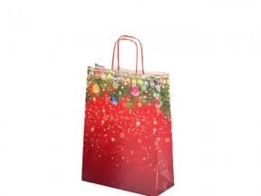 Sacchetti shoppers carta natale rosso cm. 45+15x49 pz.50 Image