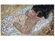 Egon schiele l'abbraccio cm. 88x52 stampa arte affiches