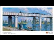 Claude monet ponte della ferrovia cm.60x100 stampa arte affiche