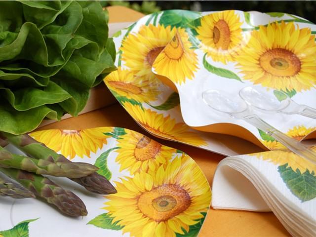 Piatti di carta girasole piatti carta for Piani di piantagione hawaiana