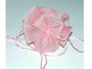 Portaconfetti sacchetti organza rosa pz.10