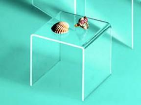 Espositore impilabile in acrilico trasparente cm. 7x7x7