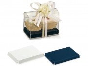 Fondo rialzato blu/bianco per cofanetto mm. 130x90 pz.10