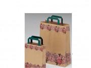 Sacchetti di carta pz.50 fascia fiorita cm.45x49 pz.50