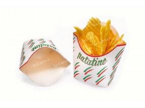 Porta patatine e fritti cartoncino politenato pz.100