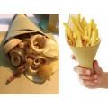 Fogli di carta paglia cm.30x40 per coni frittura pz.500