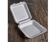 Contenitori biodegradabili con coperchio pz.50 cm.21,5x21,5 h8