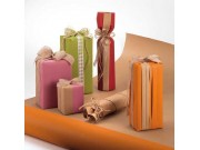Carta regalo paper arancio rotolo cm.80x25 metri