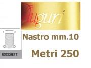 Nastro stampa auguri metal oro mm.10 metri 250