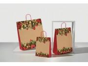 Sacchetti natalizi di carta cortina cm.22+10x29 pz. 50