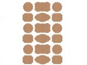 Etichette adesive sagomate in carta kraft 10 fogli da 18 etich.