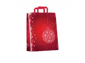 Sacchetti natalizi di carta pz.50 noel rouge cm.32+13x41