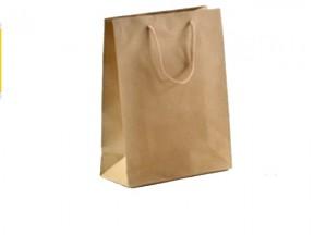 sacchetto carta avana manici in cotone pz 10 Image