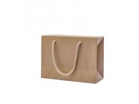 Shopper carta avana manici cotone bag box cm.24+10x17 pz.10