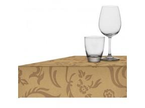 Tovaglia tnt(tessuto non tessuto) champagne damascata cm.160x220
