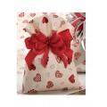 Buste sacchetti regalo fantasia cuori pz.50 cm.15x25