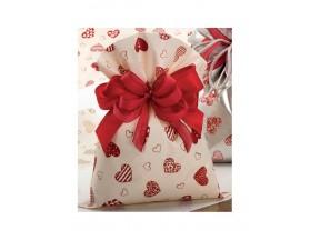 Buste sacchetti regalo fantasia cuori pz.50 cm.25x40