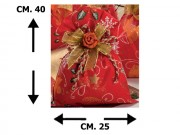 Buste merry christmas rosso 25x40 pz.50